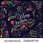 vector set of floral... | Shutterstock .eps vector #508868749