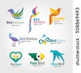 set of bird logo design...   Shutterstock .eps vector #508869493