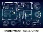 hud ui for business app.... | Shutterstock .eps vector #508870720
