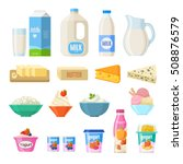 vector collection of dairy... | Shutterstock .eps vector #508876579