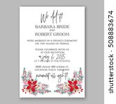wedding invitation printable... | Shutterstock .eps vector #508883674