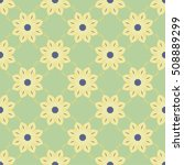 seamless pattern with floral... | Shutterstock .eps vector #508889299
