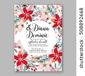 wedding invitation printable...   Shutterstock .eps vector #508892668