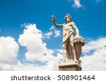 statue of autumn  or bacchus in ... | Shutterstock . vector #508901464