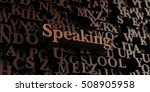 speaking   wooden 3d rendered...   Shutterstock . vector #508905958