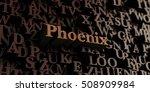 phoenix   wooden 3d rendered... | Shutterstock . vector #508909984