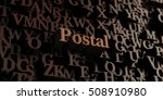 postal   wooden 3d rendered... | Shutterstock . vector #508910980