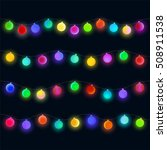 glowing christmas lights... | Shutterstock .eps vector #508911538