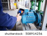 technician use thermal imaging... | Shutterstock . vector #508914256