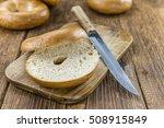 plain bagel  selective focus ...   Shutterstock . vector #508915849