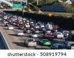 blur image interstate highway... | Shutterstock . vector #508919794