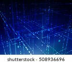 vector 3d structure. technology ... | Shutterstock .eps vector #508936696