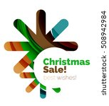 christmas and new year sale... | Shutterstock .eps vector #508942984