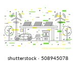 electric car charging station... | Shutterstock .eps vector #508945078