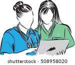 medical staff talking... | Shutterstock .eps vector #508958020