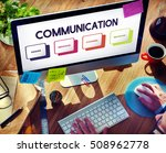 communication connection... | Shutterstock . vector #508962778