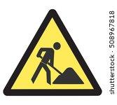 under construction road sign  | Shutterstock .eps vector #508967818