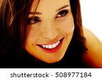 young cheerful smiling woman. | Shutterstock . vector #508977184