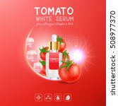 collagen serum tomato extract... | Shutterstock .eps vector #508977370