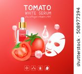 collagen serum tomato extract... | Shutterstock .eps vector #508977394