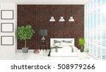 modern bright interior . 3d... | Shutterstock . vector #508979266