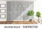 modern empty interior . 3d... | Shutterstock . vector #508980700