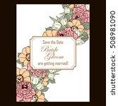 vintage delicate invitation... | Shutterstock .eps vector #508981090