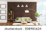 modern bright interior . 3d... | Shutterstock . vector #508981624