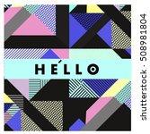 trendy geometric elements... | Shutterstock .eps vector #508981804