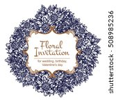 romantic invitation. wedding ... | Shutterstock .eps vector #508985236