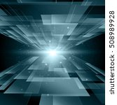 abstract blue technology... | Shutterstock .eps vector #508989928