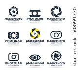 set of photography logo design... | Shutterstock .eps vector #508991770