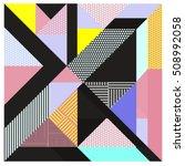 trendy geometric elements... | Shutterstock .eps vector #508992058