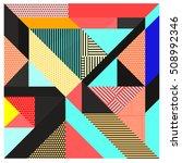 trendy geometric elements... | Shutterstock .eps vector #508992346