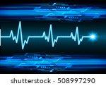 heart beat  cardiogram. pulse... | Shutterstock .eps vector #508997290