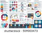infographic elements vector... | Shutterstock .eps vector #509003473