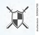 sword and shield icon | Shutterstock .eps vector #509004700