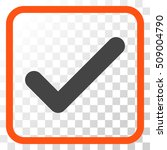 ok orange and gray vector icon. ...