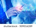 closed up business man using... | Shutterstock . vector #509016289