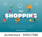 simple shopping banner with... | Shutterstock .eps vector #509017588