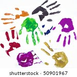 palmprints | Shutterstock . vector #50901967