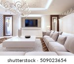 modern living room in white... | Shutterstock . vector #509023654