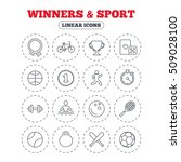 winners and sport icons. winner ... | Shutterstock .eps vector #509028100