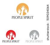 sun circle people spirit hands... | Shutterstock .eps vector #509034064