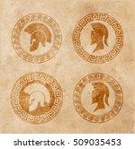 old shabby symbol of... | Shutterstock .eps vector #509035453