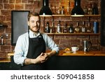 portrait of smiling young man... | Shutterstock . vector #509041858