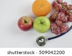 stethoscope with fruits ... | Shutterstock . vector #509042200