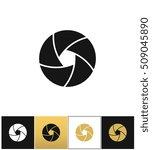 camera shutter or photography... | Shutterstock .eps vector #509045890