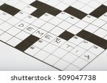 crossword puzzle with one word. ... | Shutterstock . vector #509047738