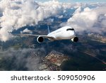 A Passenger Plane Flying High...
